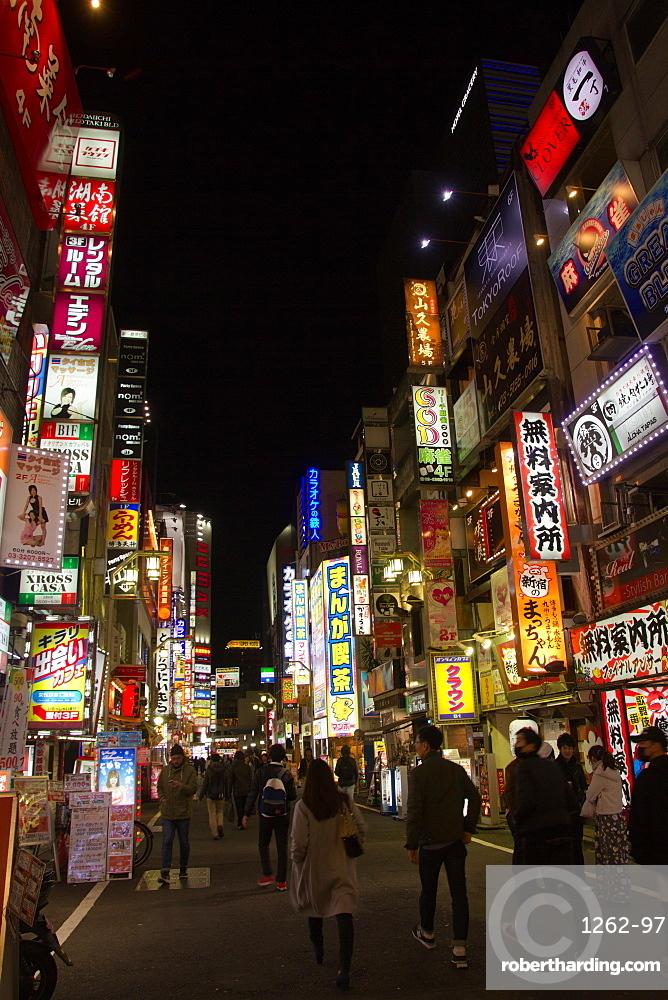 The Kabukicho district of Shinjunku, Tokyo, Japan, Asia