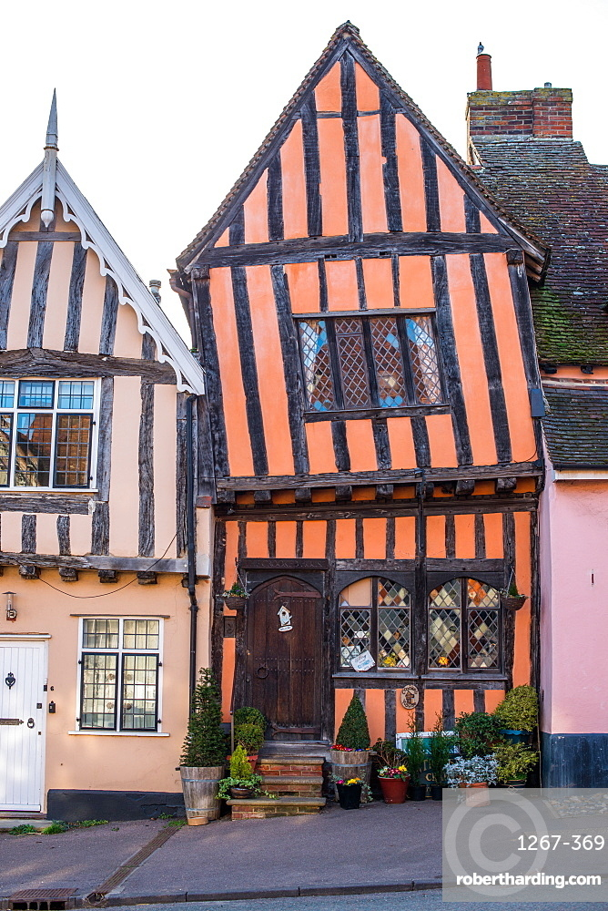 The Crooked House Gallery in the village of Lavenham in Suffolk, England UK