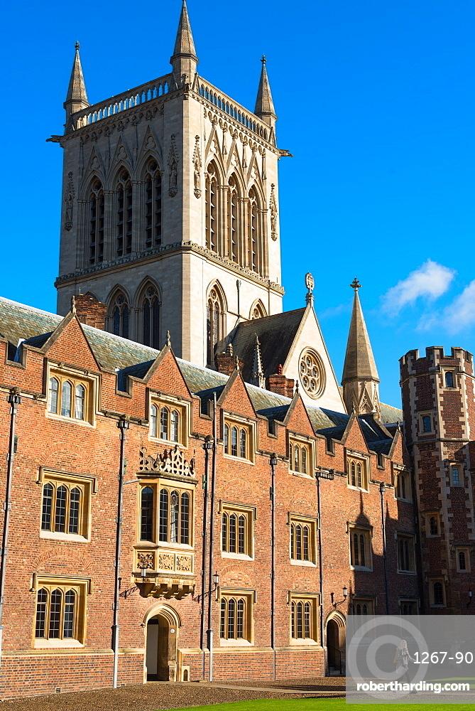 St. Johns College Chapel, Cambridge University, Cambridge, Cambridgeshire, England, United Kingdom, Europe
