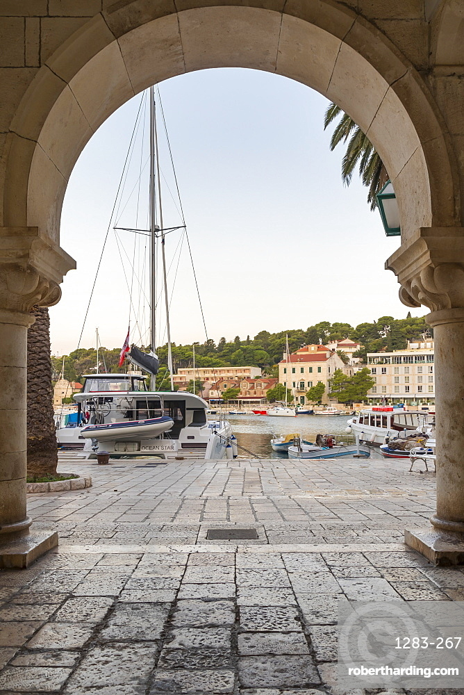 The port of Hvar Town