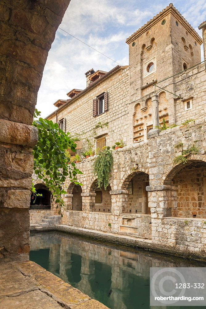 Inside the Tvrdalj Castle in the old town of Stari Grad on Hvar Island, Croatia, Europe