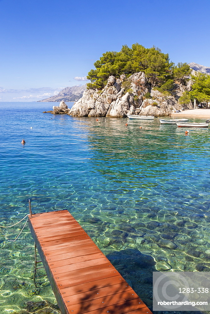 The famous Podrace Beach near Brela and Makarska, Croatia, Europe