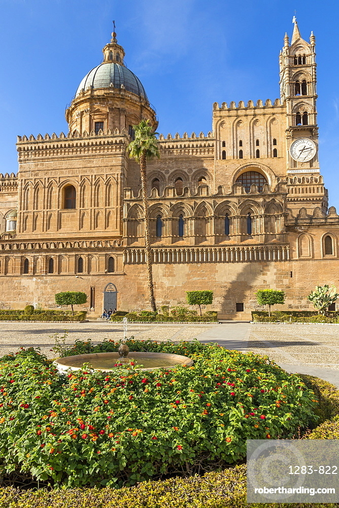 The Palermo Cathedral (UNESCO World Heritage Site), Palermo, Sicily, Italy, Europe