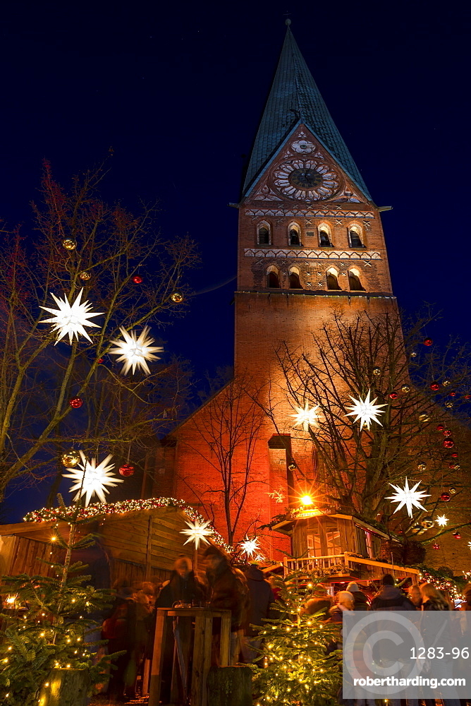 Small christmas market at St. John's Church in Lueneburg