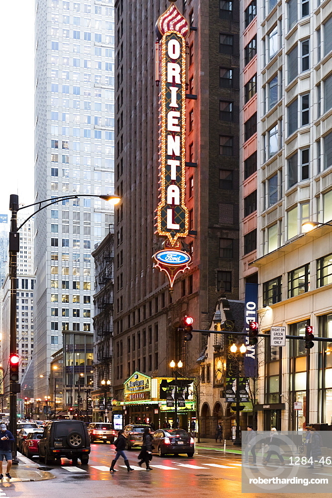 Oriental Theatre, Loop Theater District, Chicago, Illinois, United States of America, North America