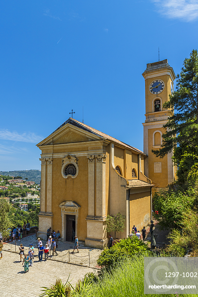 Church of Our Lady of the Assumption of Eze in Eze, Alpes Maritimes, Provence Alpes Cote D'Azur, French Riviera, France, Mediterranean, Europe