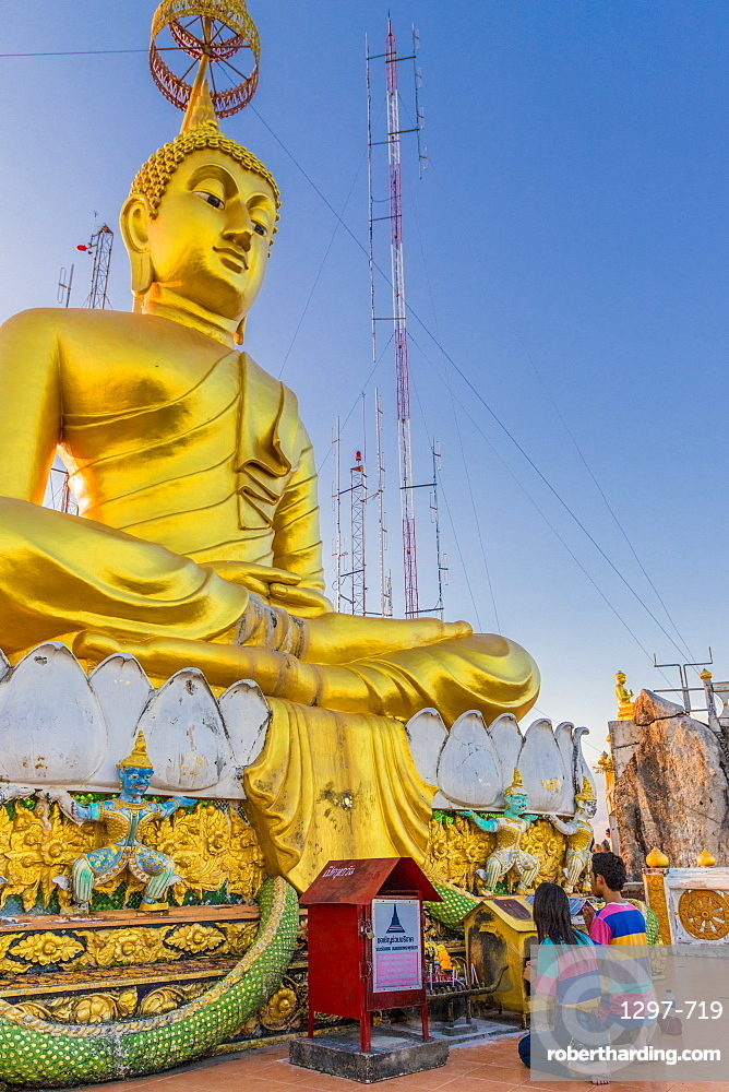 The big Buddha statue at the Tiger cave temple in Krabi, Thailand, Southeast Asia, Asia.