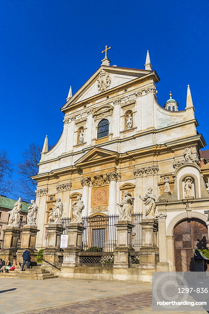 The Church of Saint Peter and Saint Paul in the medieval old town, a UNESCO World heritage site, in Krakow, Poland, Europe.
