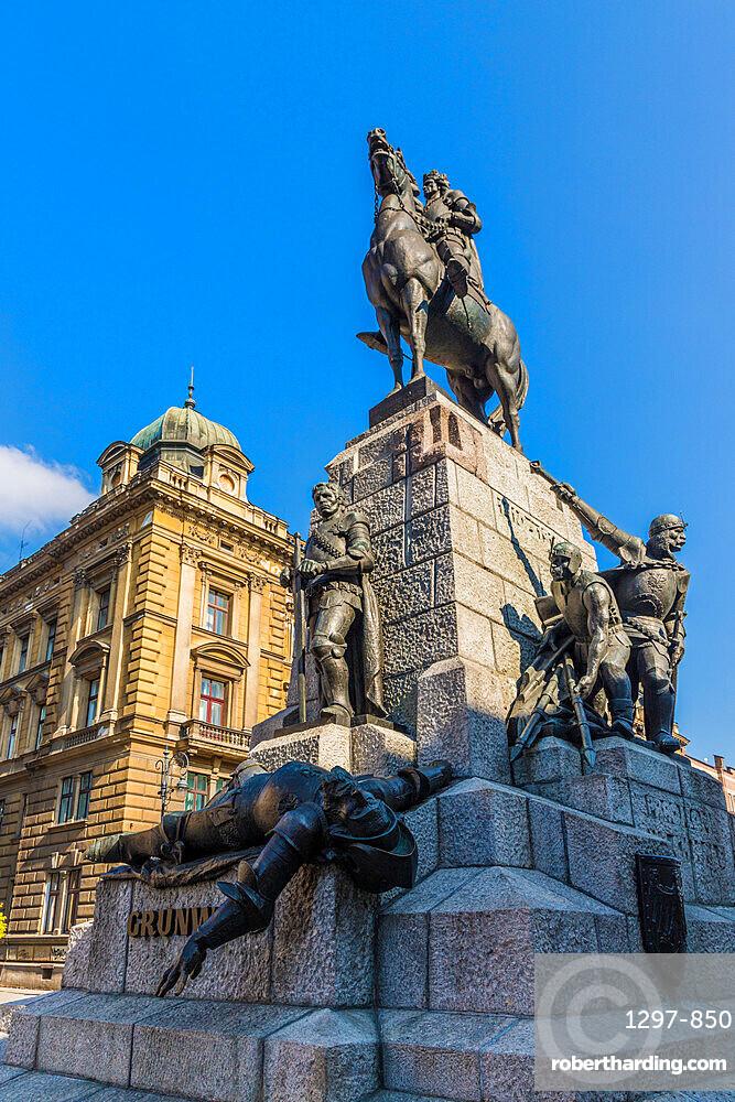 Grunwald Monument in Krakow, Poland, Europe.