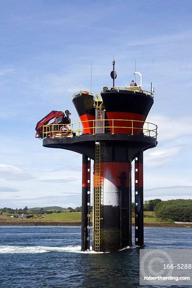 Experimental tidal generator, Strangford Lough, County Down, Ulster, Northern Ireland, United Kingdom, Europe