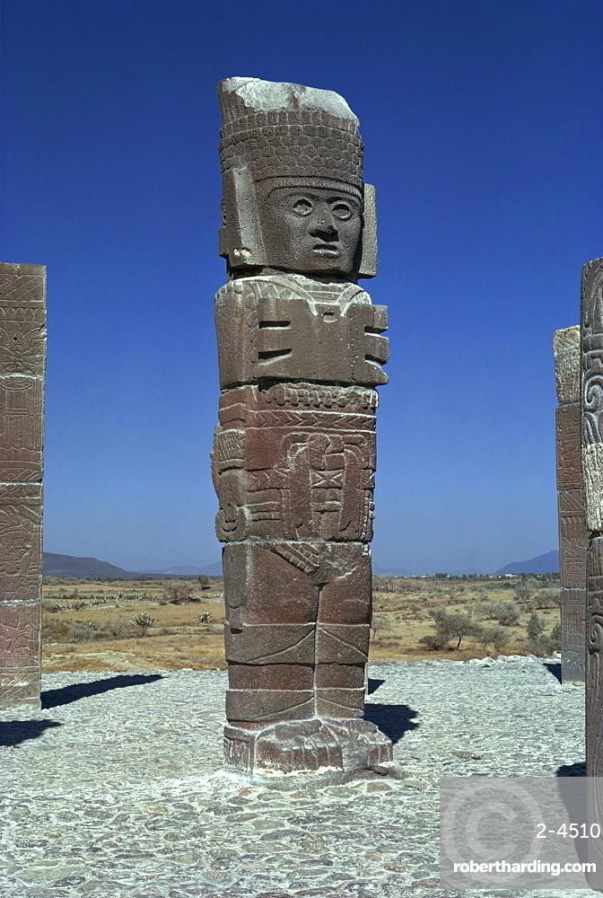 Toltec statue, Tula, Mexico, North America