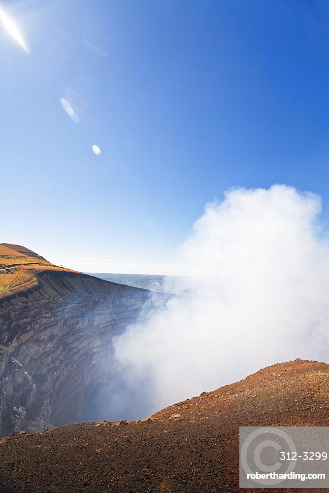 Santiago crater, Park National Volcan Masaya, Masaya, Nicaragua, Central America
