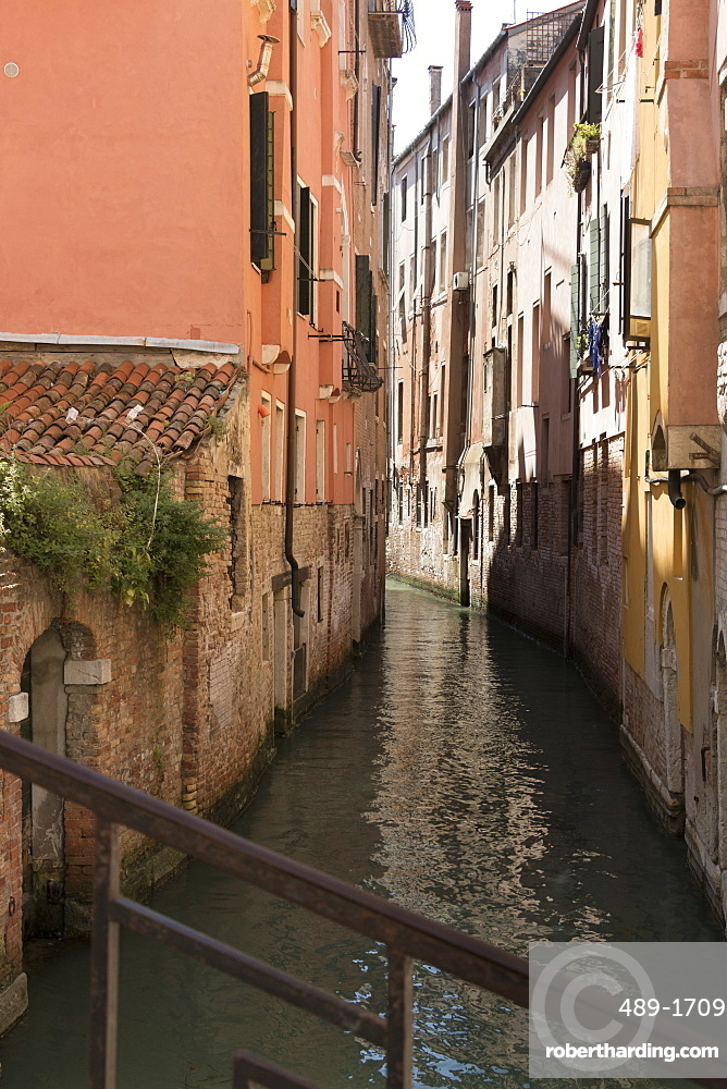 A small canal, Venice, UNESCO World Heritage Site, Veneto, Italy, Europe