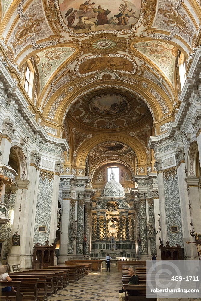 Interior and high altar, Church of Santa Maria Assunta, Venice, UNESCO World Heritage Site, Veneto, Italy, Europe