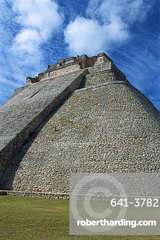 Magician's Pyramid, Uxmal, UNESCO World Heritage Site, Yucatan, Mexico, North America