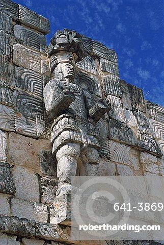 Puuc Mayan site of Kabah, the Codz Poop (Palace of Masks), Kabah, near Uxmal, Yucatan, Mexico, North America