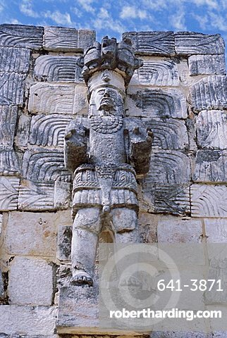 Codz Poop or Palace of Masks, Kabah Puuc Mayan site, near Uxmal, Yucatan, Mexico, Central America