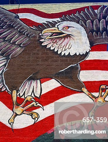 Wall painting, Los Angeles, California, United States of America, North America
