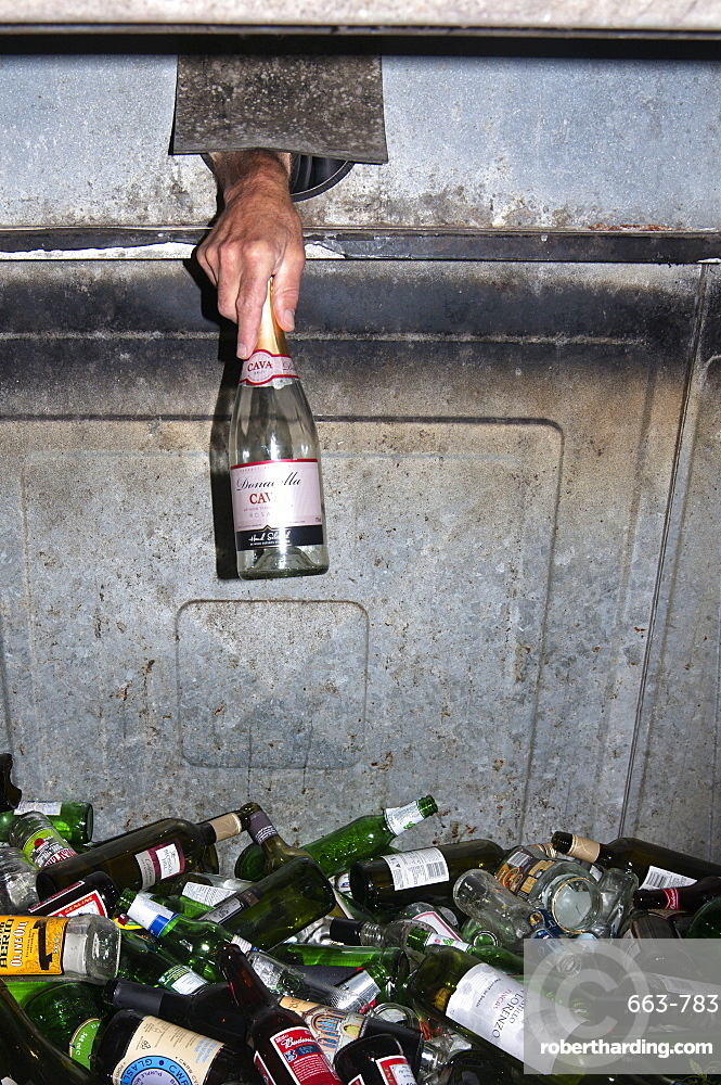 Bottle Bank, Powys, Wales, United Kingdom, Europe