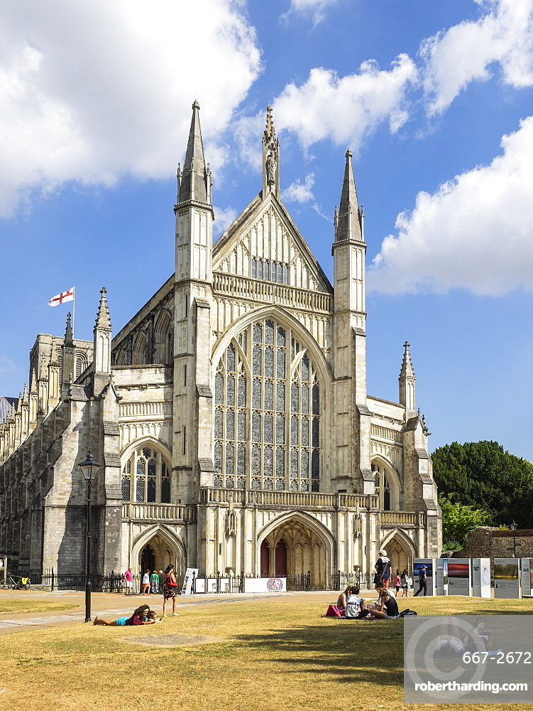 The Cathedral, Winchester, Hampshire, England, United Kingdom, Europe