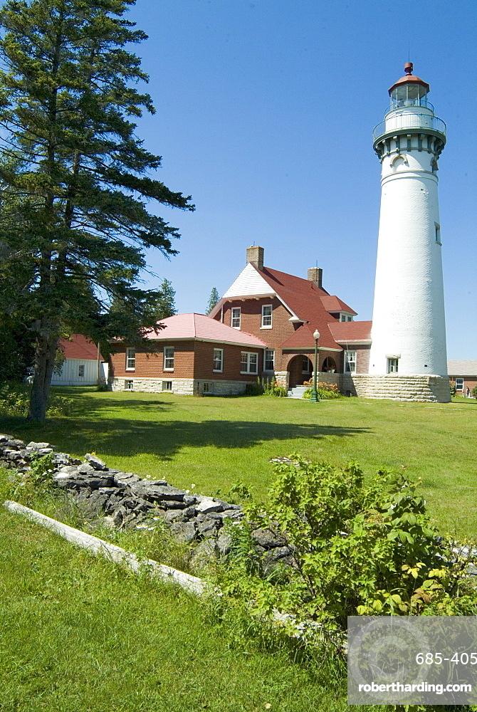 Seul Choix Lighthouse, Michigan, United States of America, North America