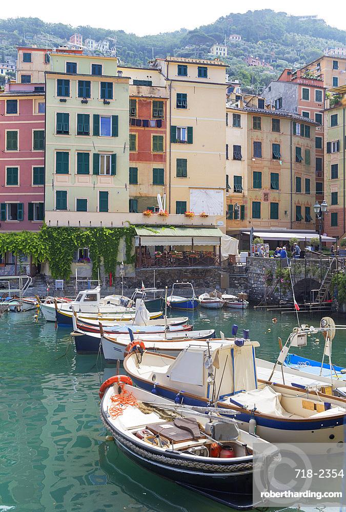Camogli fishing port, Camogli, Liguria, Italy, Europe