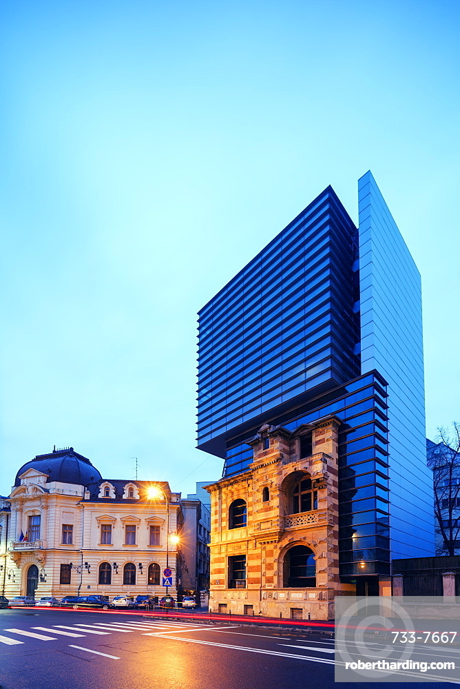 Piata Revolutei Square, (Revolution Square) Headquarters of the Romanian Architects Association, Bucharest, Romania, Europe