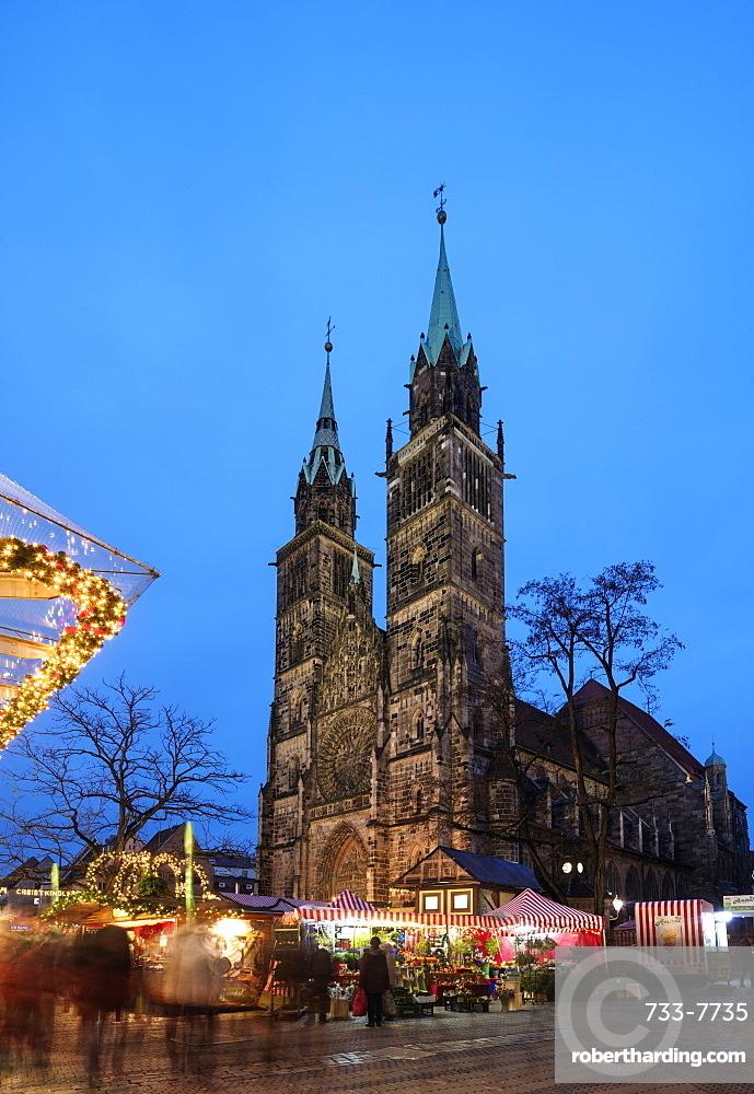 Lorenzkirche (Church of St. Laurence), Nuremberg (Nurnberg), Franconia, Bavaria, Germany, Europe