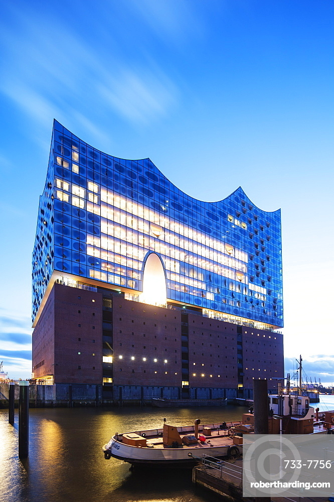 Elphi Concert Hall (Elbphilharmonie), designed by Herzog and de Meuron Architects, Hamburg, Germany, Europe