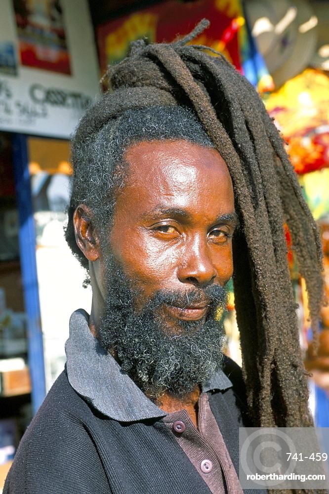 Rasta Man Ocho Rios Jamaica Stock Photo