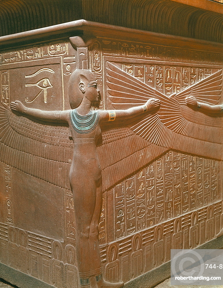 Sarcophagus from the tomb of Tutankhamun, discovered in the Valley of the Kings, Thebes, Egypt, North Africa, Africa