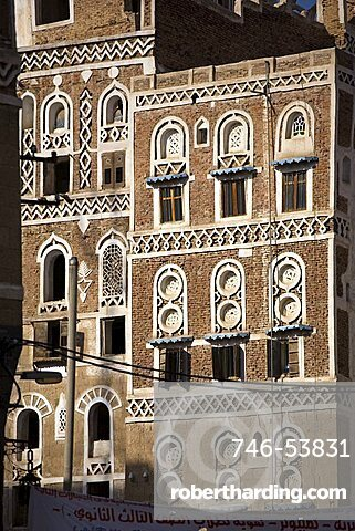 Architecture, Sana'a, Yemen, Middle East
