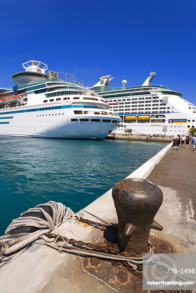 Cruise ships at Prince George Wharf, Nassau, New Providence Island, Bahamas, West Indies, Central America