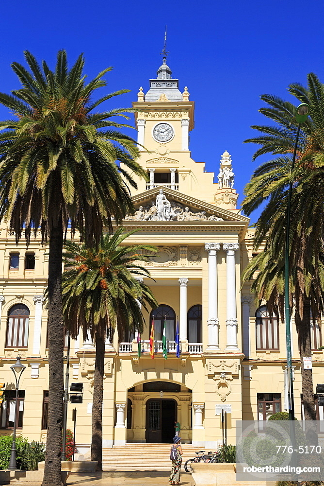 City Hall, Malaga, Andalusia, Spain, Europe