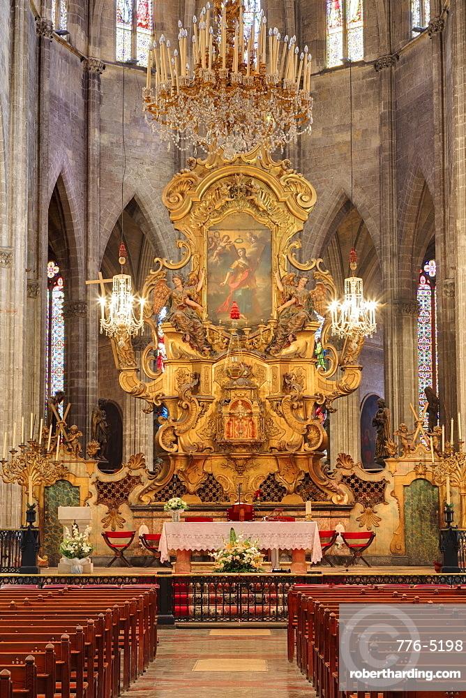 Santa Eulalia Church, Palma De Mallorca, Majorca, Balearic Islands, Spain, Mediterranean, Europe