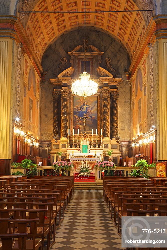 Cathedral, Ajaccio City, Corsica Island, France, Europe