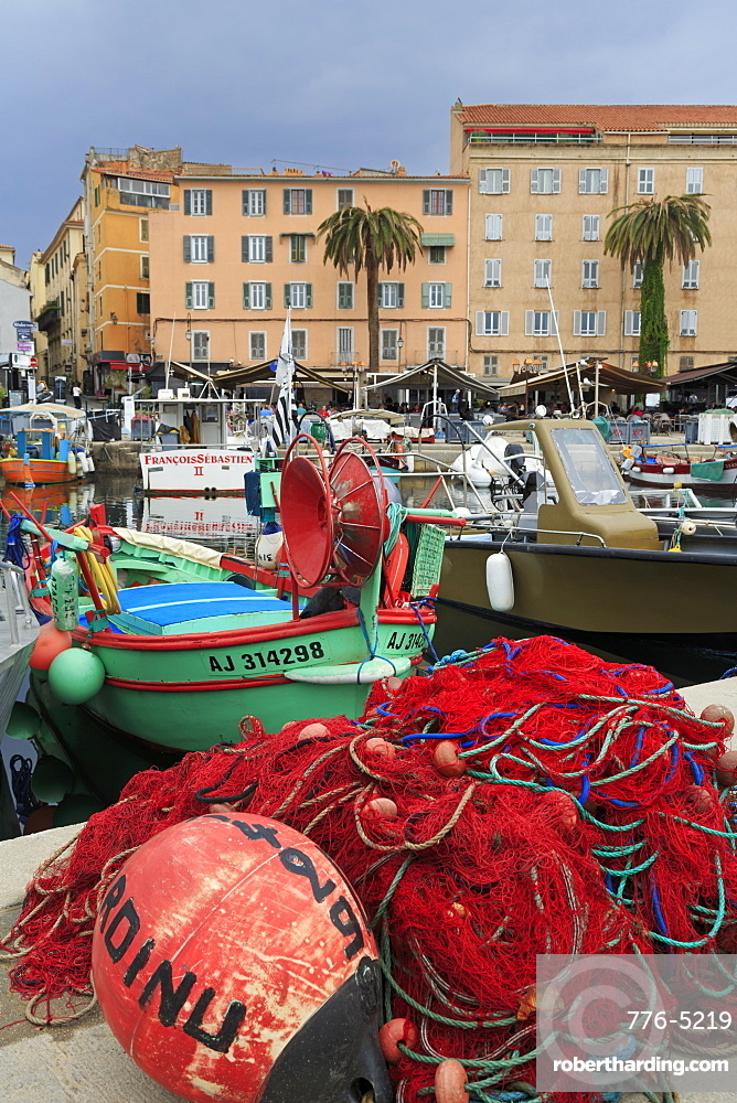 Fishing boats, Ajaccio City, Corsica Island, France, Mediterranean, Europe
