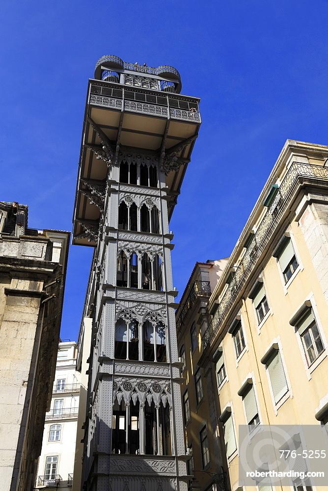 Santa Justa Elevator, Lisbon, Portugal, Europe