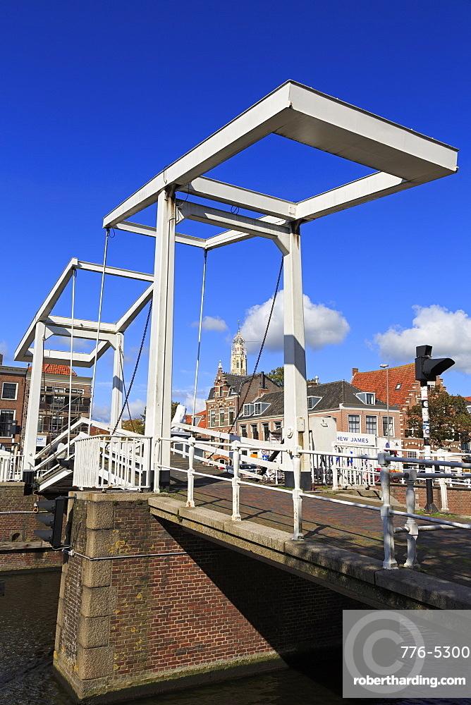 Douche Gravestenebrug Bridge, Haarlem, Netherlands, Europe