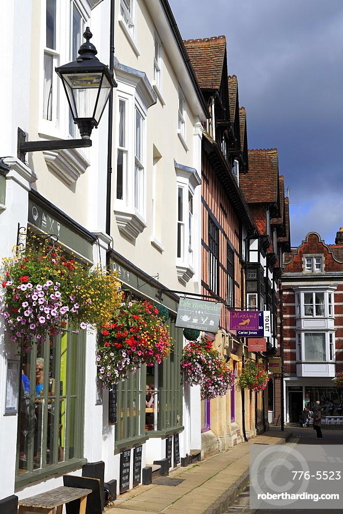 St. Thomas Street, Winchester, Hampshire, England, United Kingdom, Europe