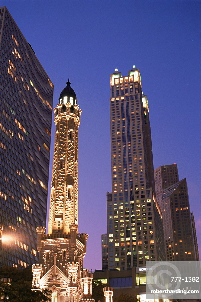 Water Tower and 900 North Michigan Shops tower, Chicago, Illinois, United States of America, North America