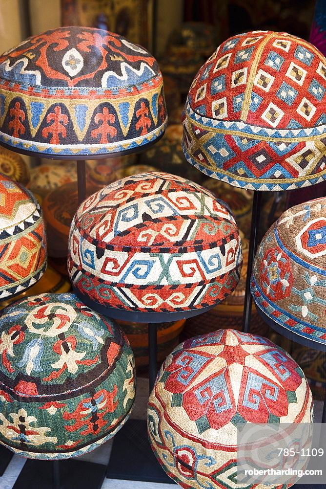 Traditional Turkish hats, Cavalry Bazaar,   Stock Photo