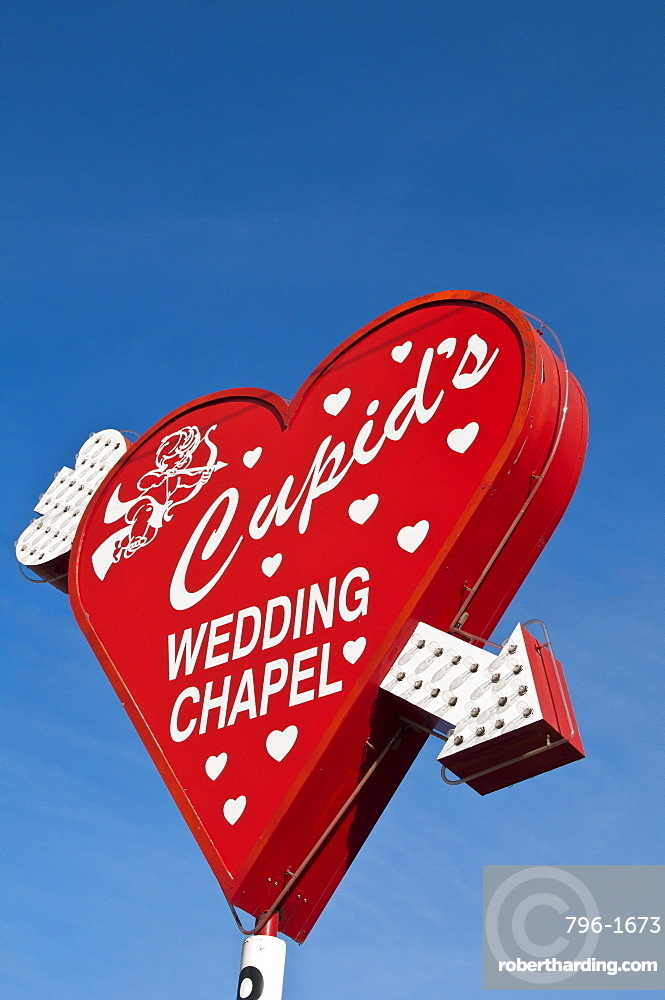 Cupid S Wedding Chapel Las Vegas Stock Photo