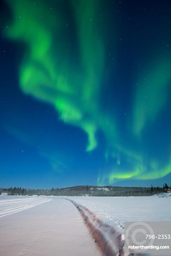 Aurora Borealis (Northern Lights), Yellowknife, Northwest Territories, Canada, North America