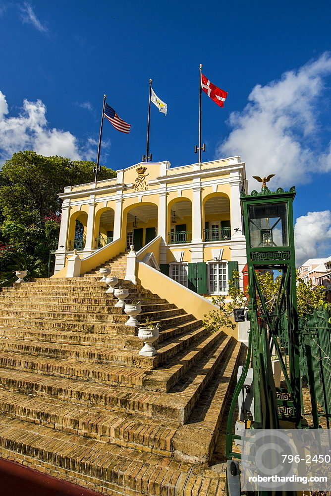 Historic Government House, Christiansted, St. Croix, US Virgin Islands, Caribbean