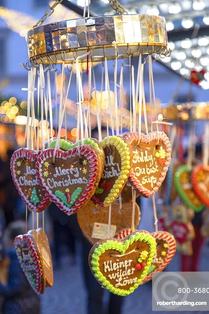 Cookies at Christmas Market, Wiesbaden, Hesse, Germany