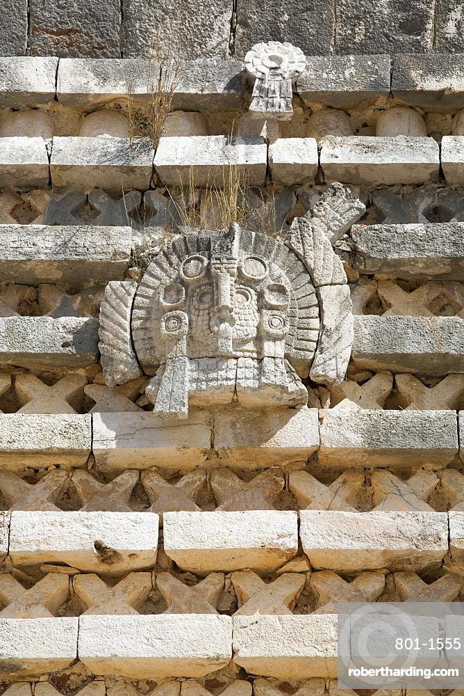 Frieze, Nuns Quadrangle, Uxmal, Mayan archaeological site, UNESCO World Heritage Site, Yucatan, Mexico, North America