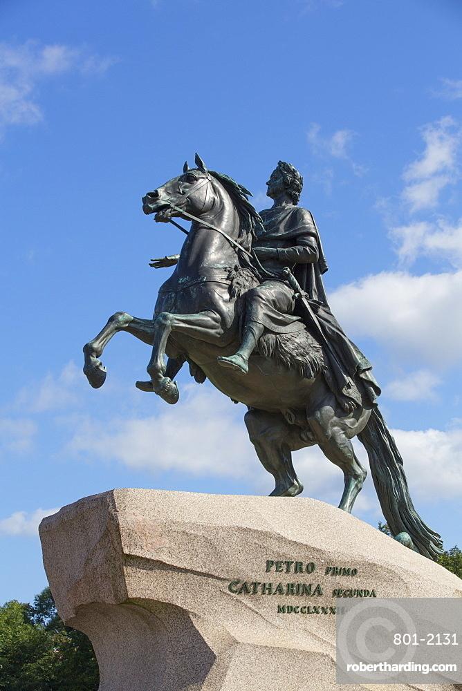 The Bronze Horseman Monument, UNESCO World Heritage Site, St. Petersburg, Russia, Europe