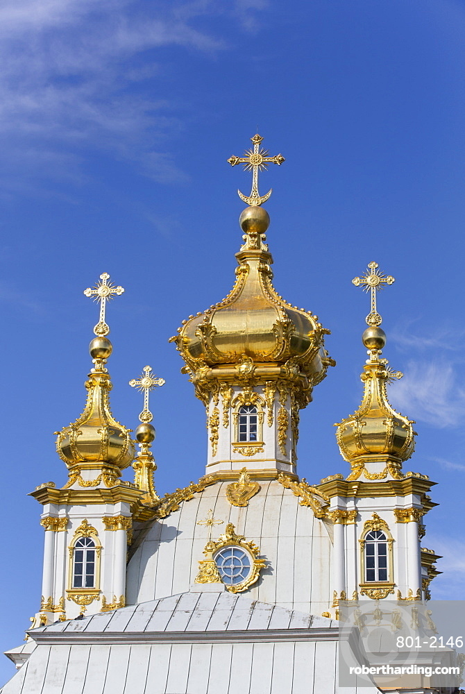 East Chapel, Peterhof, UNESCO World Heritage Site, near St. Petersburg, Russia, Europe