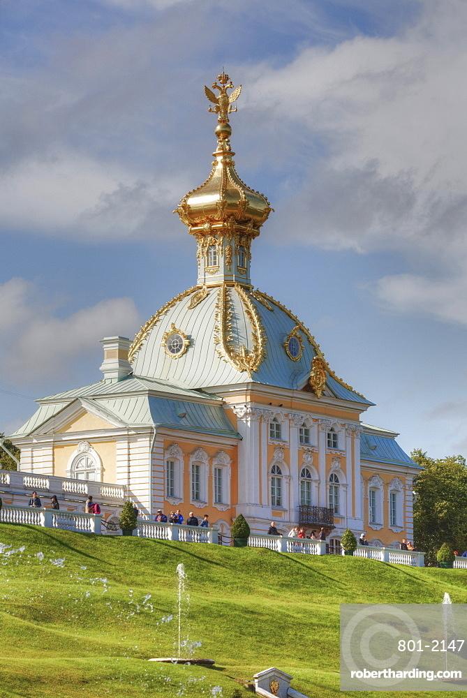 West Chapel, Peterhof, UNESCO World Heritage Site, near St. Petersburg, Russia, Europe